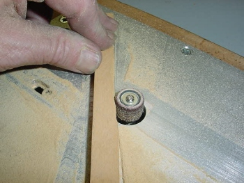 Free-hand sanding is easy. Just remove the fence. Also good for